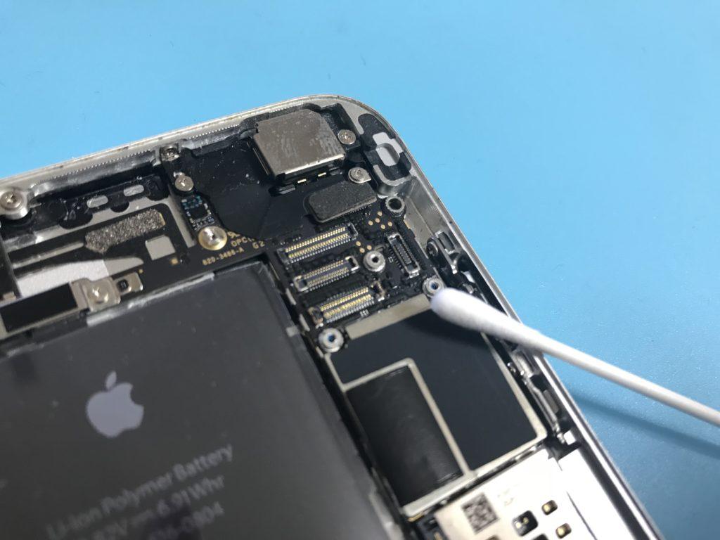 iPhoneのコネクタ箇所