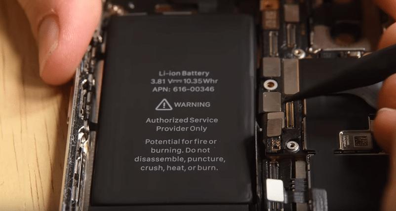 iPhoneX分解バッテリー