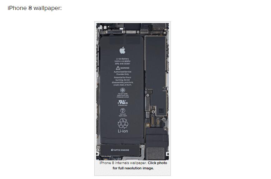 iPhone8スケルトン壁紙