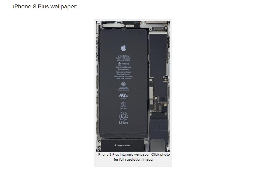 iPhone8Plusスケルトン壁紙