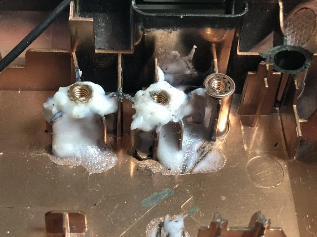 G580ヒンジの修理