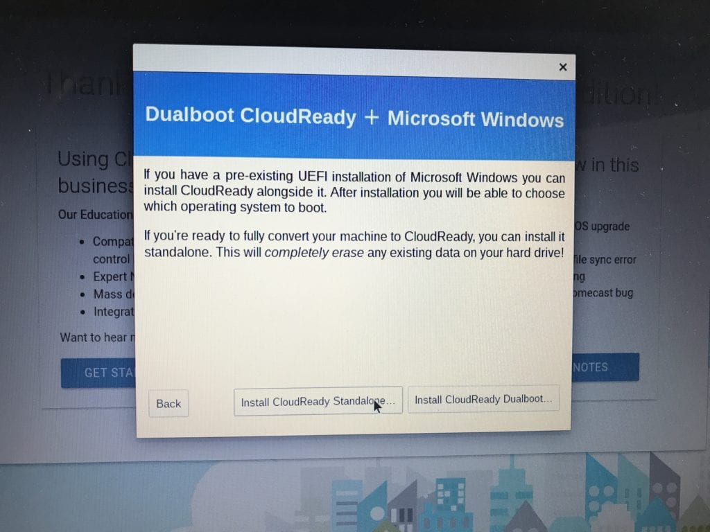 Install CloudReady Standalone
