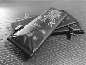 iPhoneのバッテリー膨張
