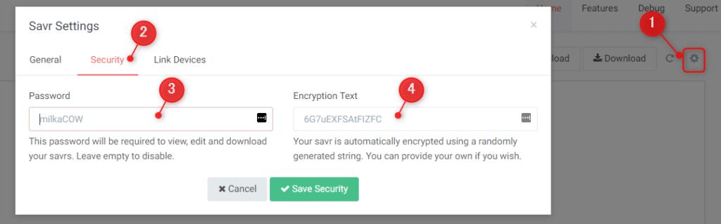 ssavrをパスワードでロック