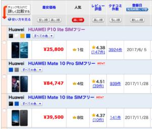Huawei人気ランキング_価格.com
