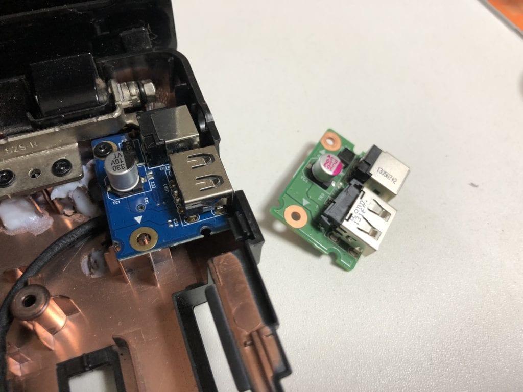 G580の電源コネクタの交換