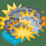 スマホバッテリー爆発