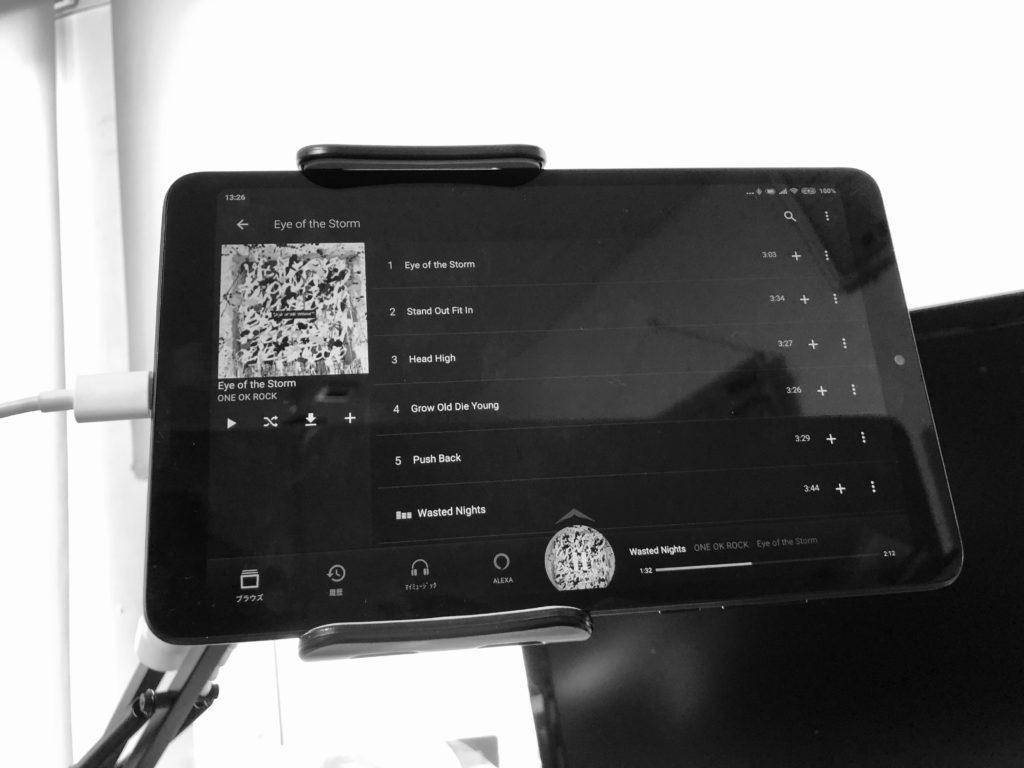 タブレットでPrime Music