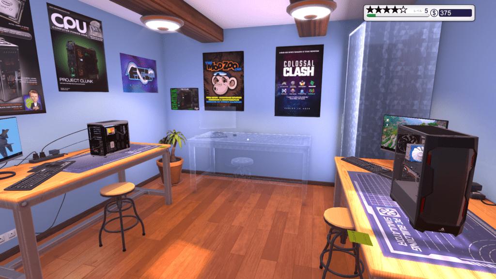 新PC Building Simulator部屋の中