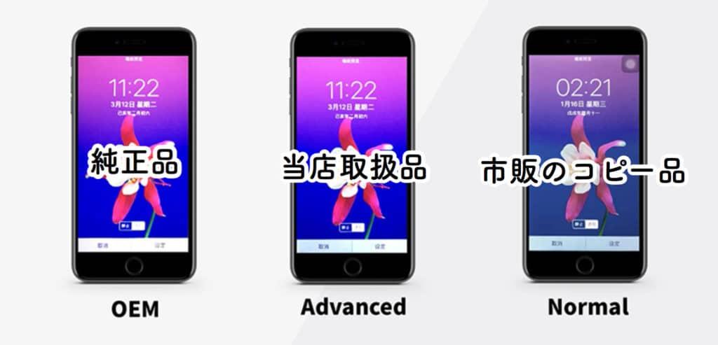 当店取扱のiPhone部品の画質