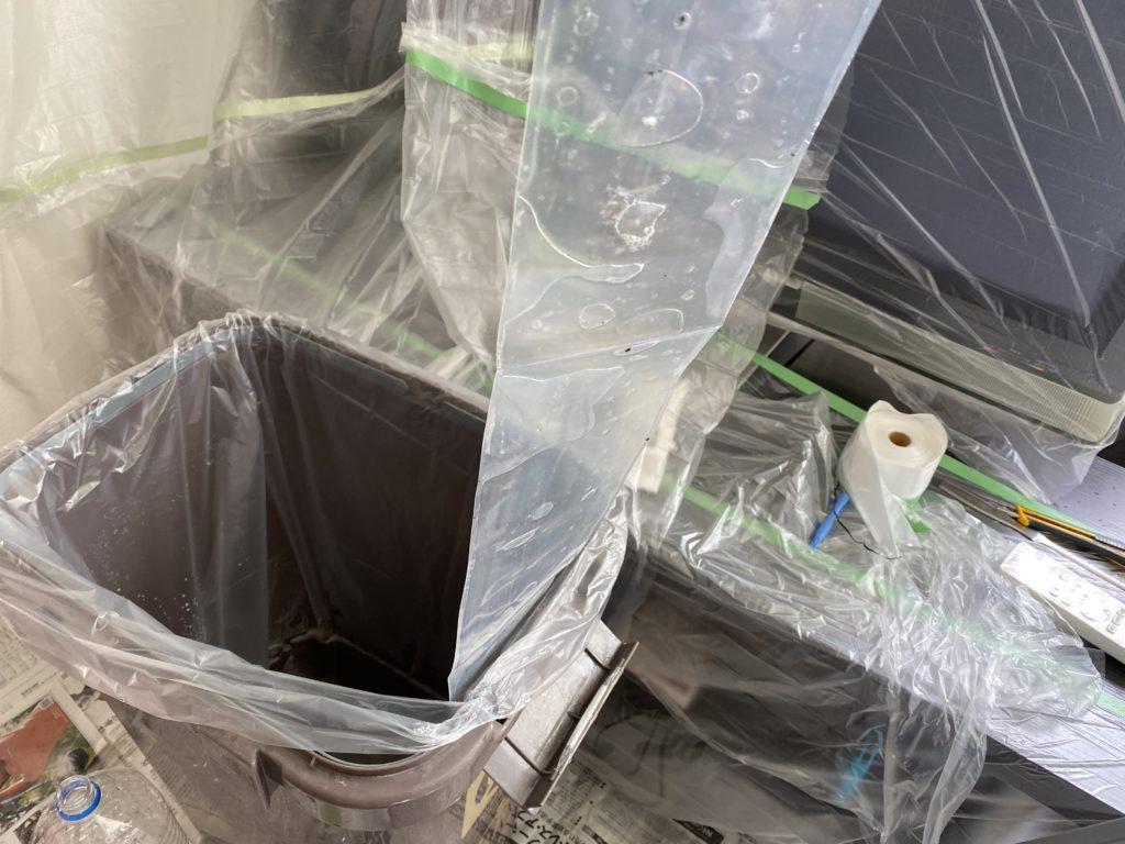 エアコン掃除の様子排水