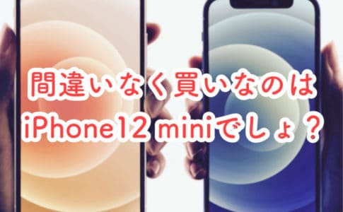 iPhone12 miniでしょ