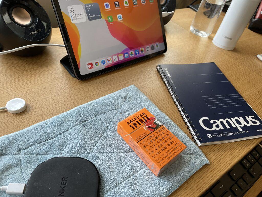 机にパソコンを置かなくても業務が出来る事を学びました