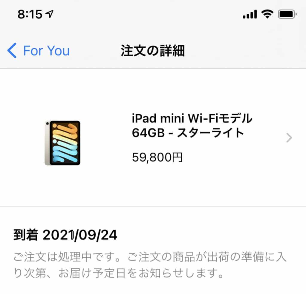 iPad mini購入