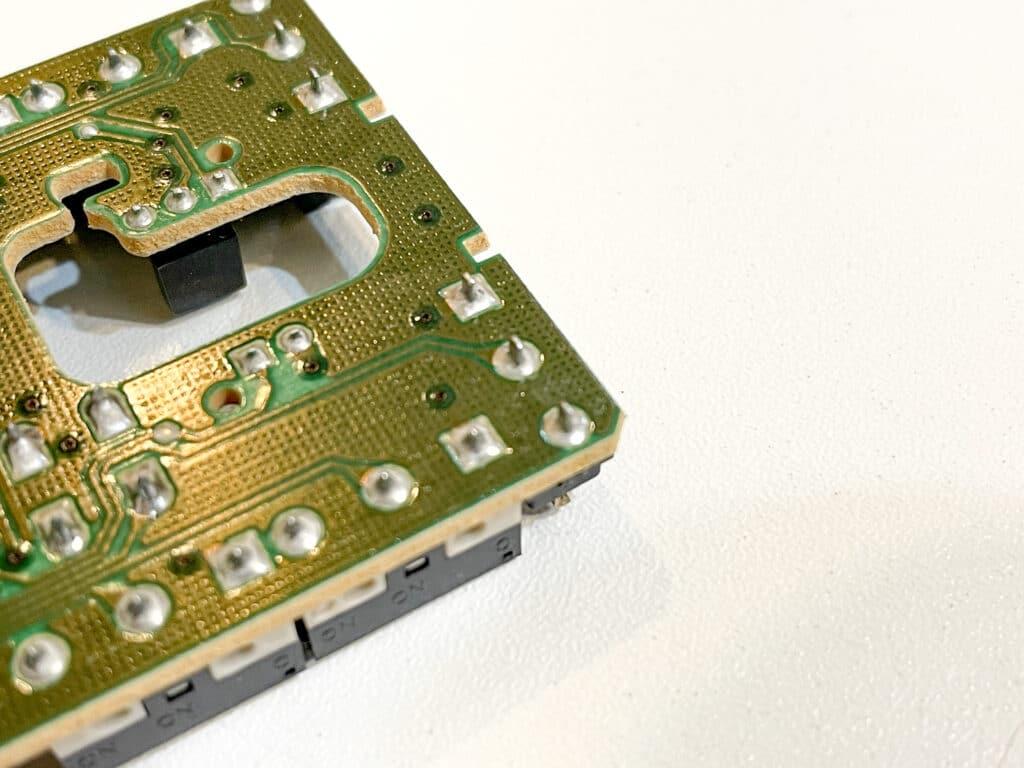 ロジクールマウスG300基盤背面